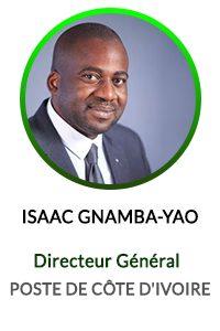 ISAAC GNAMBA YAO - DIRECTEUR GENERAL DE LA POSTE COTE D'IVOIRE