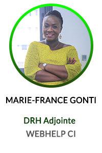 MARIE FRANCE GONTI DRH ADJOINTE WEBHELP COTE D'IVOIRE