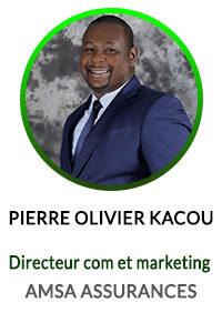 PIERRE OLIVIER KACOU DIRECTEUR COMMUNICATION ET MARKETING ASMA ASSURANCES